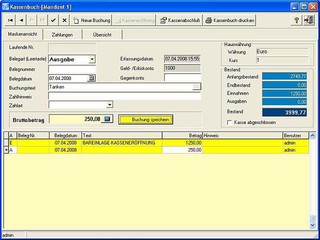 Marktkasse_Kassenbuch